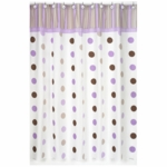 Sweet JoJo Designs Mod Dots Purple Shower Curtain