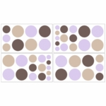 Sweet JoJo Designs Mod Dots Purple Wall Decals