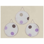 Sweet JoJo Designs Mod Dots Purple Wall Hangings