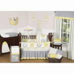 Sweet JoJo Designs Mod Garden 9 Piece Crib Bedding Set