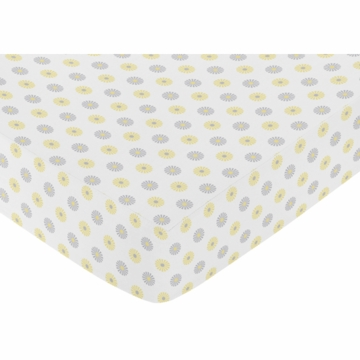 Sweet JoJo Designs Mod Garden Crib Sheet in Floral