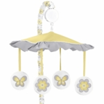 Sweet JoJo Designs Mod Garden Fabric Musical Mobile