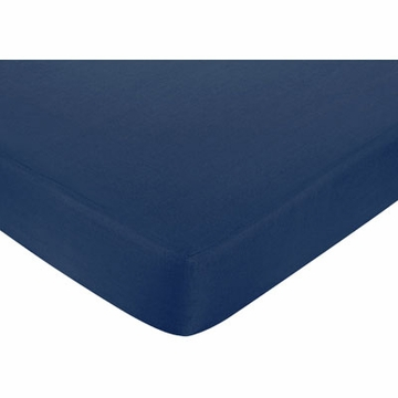 Sweet JoJo Designs Nautical Nights Crib Sheet in Navy Blue