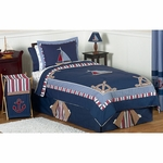 Sweet JoJo Designs Nautical Nights Twin Bedding Set