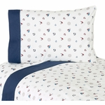 Sweet JoJo Designs Nautical Nights Twin Sheet Set