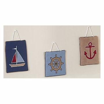 Sweet JoJo Designs Nautical Nights Wall Hangings
