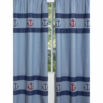 Sweet JoJo Designs Nautical Nights Window Panels - Set of 2