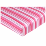 Sweet JoJo Designs Olivia Crib Sheet in Stripe Print