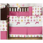 Sweet JoJo Designs Owl Pink 9 Piece Crib Bedding Set