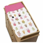 Sweet JoJo Designs Owl Pink Changing Pad Cover