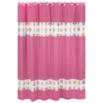 Sweet JoJo Designs Owl Pink Shower Curtain