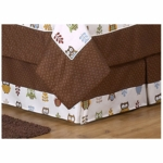 Sweet JoJo Designs Owl Toddler Bedding Skirt