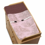 Sweet JoJo Designs Pink & Brown Toile Changing Pad Cover
