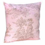 Sweet JoJo Designs Pink & Brown Toile Decorative Throw Pillow