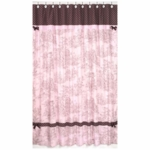Sweet JoJo Designs Pink & Brown Toile Shower Curtain