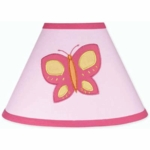 Sweet JoJo Designs Pink & Orange Butterfly Lamp Shade