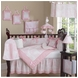 Sweet JoJo Designs Pink Toile 9 Piece Crib Bedding Set