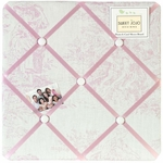Sweet JoJo Designs Pink Toile Fabric Memo Board