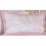 Sweet JoJo Designs Pink Toile Pillow Sham