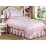 Sweet JoJo Designs Pink Toile Twin Bedding Set