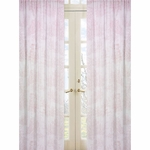 Sweet JoJo Designs Pink Toile Window Panels - Set of 2