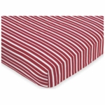 Sweet JoJo Designs Pirate Treasure Cove Crib Sheet in Stripe Print