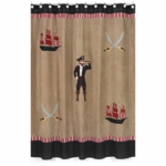 Sweet JoJo Designs Pirate Treasure Cove Shower Curtain