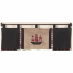 Sweet JoJo Designs Pirate Treasure Cove Window Valance