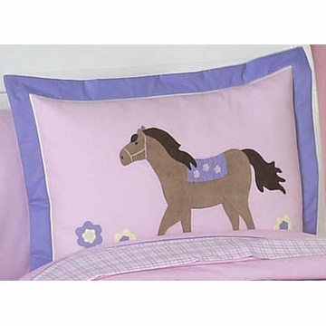 Sweet JoJo Designs Pony Pillow Sham