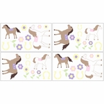 Sweet JoJo Designs Pony Wall Decals