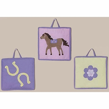 Sweet JoJo Designs Pony Wall Hangings