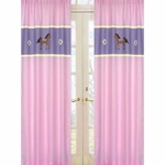 Sweet JoJo Designs Pony Window Panels - Set of 2