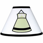 Sweet JoJo Designs Princess Black, White & Green Lamp Shade