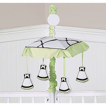 Sweet JoJo Designs Princess Black, White & Green Musical Mobile