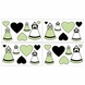 Sweet JoJo Designs Princess Black, White & Green Wall Decals