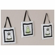 Sweet JoJo Designs Princess Black, White & Green Wall Hangings