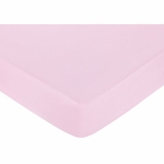 Sweet JoJo Designs Princess Black, White & Pink Crib Sheet - Pink