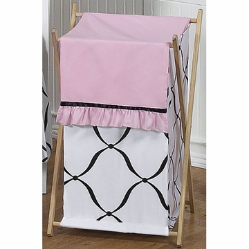 Sweet JoJo Designs Princess Black, White & Pink Hamper