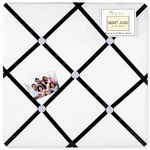 Sweet JoJo Designs Princess Black, White & Purple Fabric Memo Board