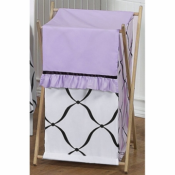 Sweet JoJo Designs Princess Black, White & Purple Hamper