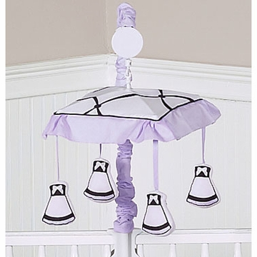 Sweet JoJo Designs Princess Black, White & Purple Musical Mobile
