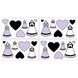 Sweet JoJo Designs Princess Black, White & Purple Wall Decals