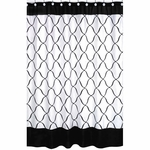 Sweet JoJo Designs Princess Black & White Shower Curtain