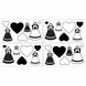 Sweet JoJo Designs Princess Black & White Wall Decals