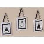 Sweet JoJo Designs Princess Black & White Wall Hangings