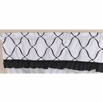 Sweet JoJo Designs Princess Black & White Window Valance