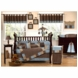 Sweet JoJo Designs Soho Blue & Brown 9 Piece Crib Bedding Set