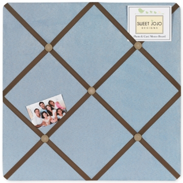 Sweet JoJo Designs Soho Blue & Brown Fabric Memo Board