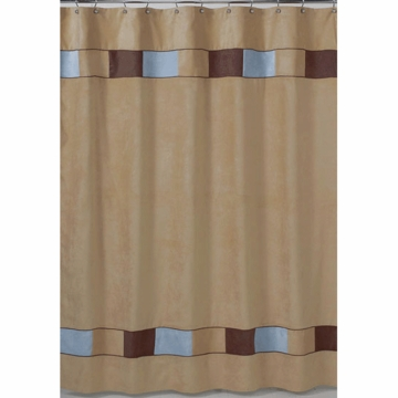 Sweet JoJo Designs Soho Blue & Brown Shower Curtain