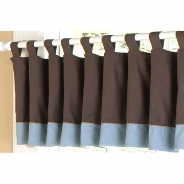 Sweet JoJo Designs Soho Blue & Brown Window Valance